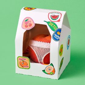 GB Anyas Fruit and Veg peach in knickers