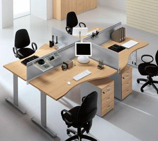 The Difference Between Wave Desks Compared To Radial Desk Is That Desktop Slightly Curved At One End Enlarge Worke