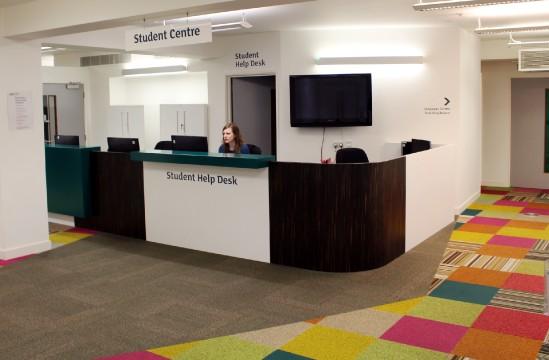 cropped reception desk