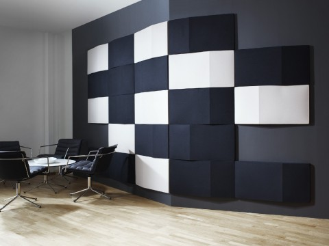 Contemporary Office Space using Acoustic Wall Tiles