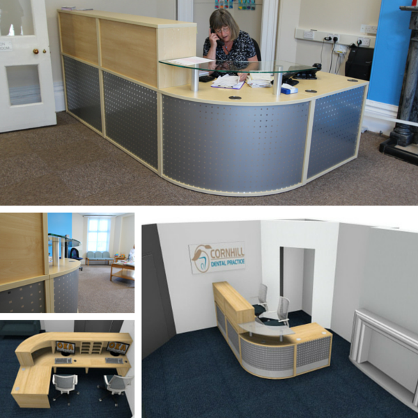 Reception Desk Design and Drawings