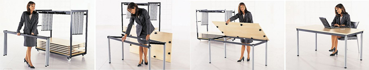Harley Axis Folding Table Images Sequence
