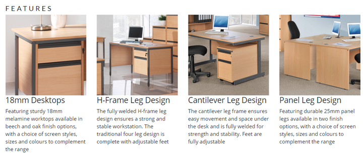 Features of Maddelex Desking