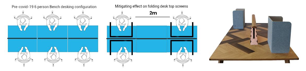 Desk Top Folding Screens