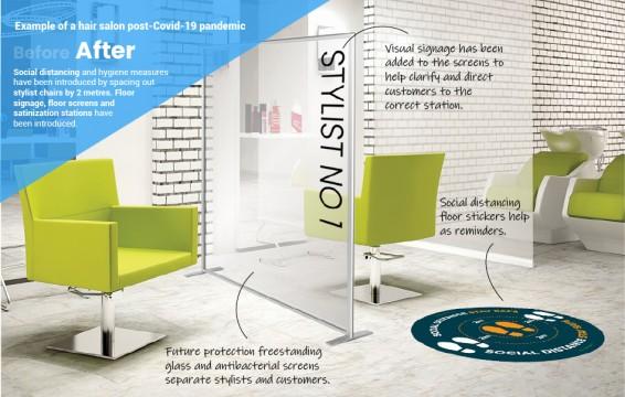 Hair Salon Glass Acrylic Protective Screens