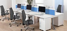 Etcetera White Bench Desks