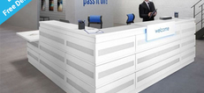 Majesto Metal or MFC Clad Reception Desks