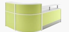 Scope Colour and wood Reception Desks
