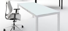 Impuls Glass Desks and storage