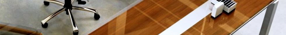 Sliver Glass Desks for sale