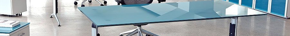 Travido Glass Desks and Tables for sale