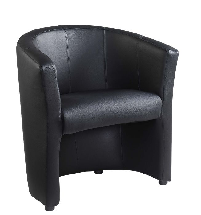 Black Leather Tub Chairs Amp Sofas Dulverton Office Reality