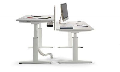 Double Height Adjustable Desks Electric Elevation
