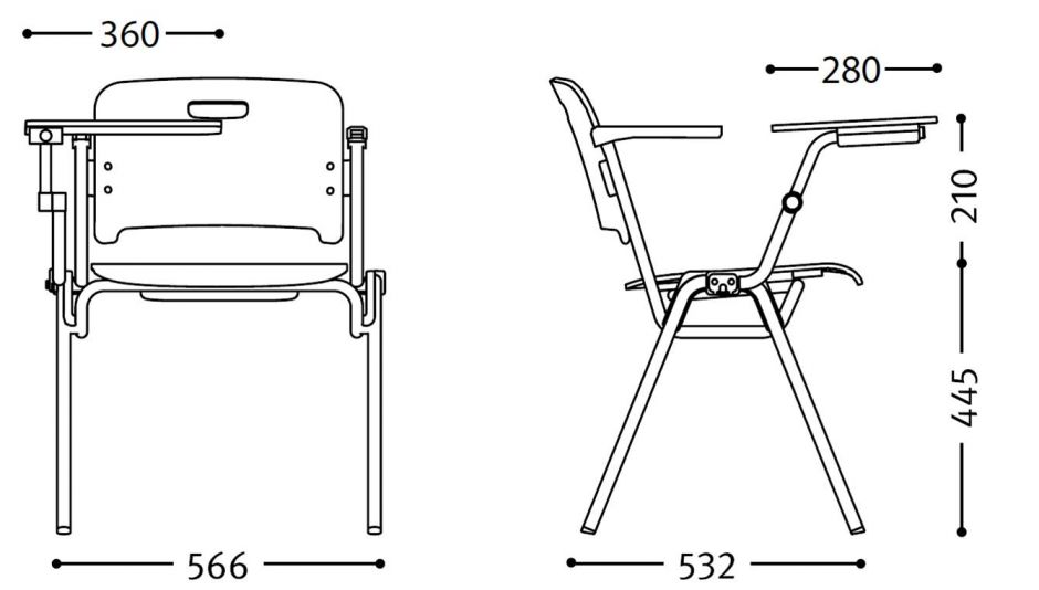 stocata plywood conference chairs