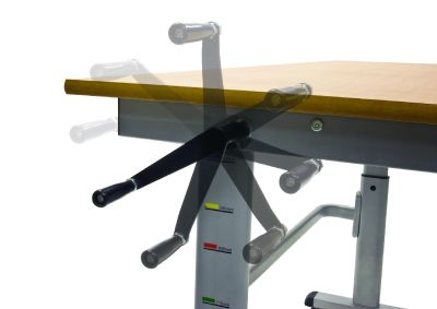 Height Adjustable Table - Crank Close Up1