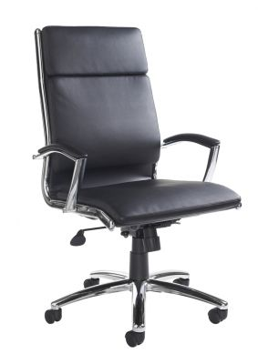 Dorence Black Leather Executive Chair