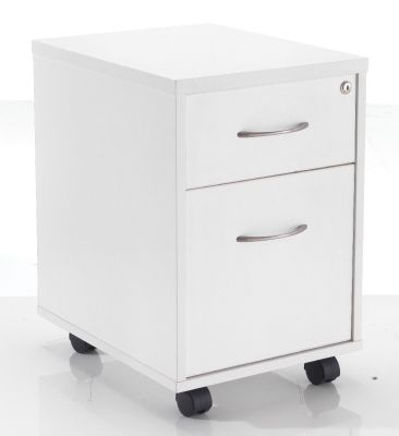 2 Drawer White Pedestal