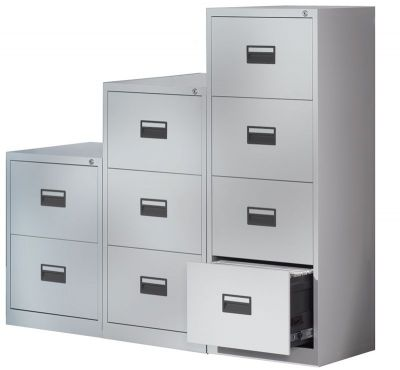Grey Metal Filing Cabinets