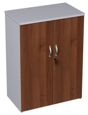 Walnut And White Two Door Cupboard