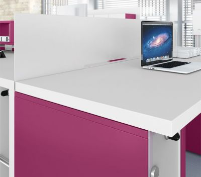 Twin Desk Side View