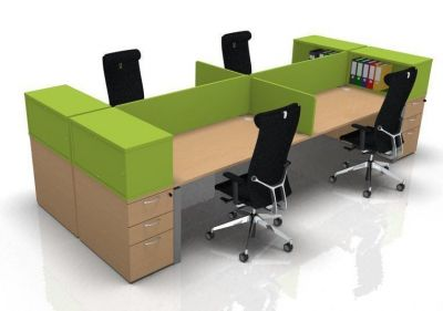 Astro Four Person Bench Desk Bundle