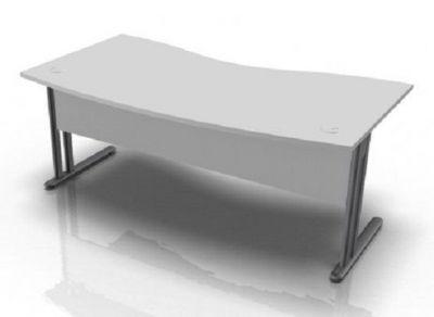 Optimize Double Wave Grey Desk
