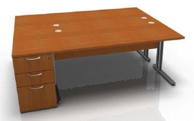 Optimize Cherry Desk And Pedestal Package Deal