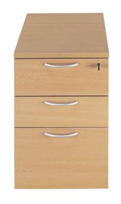 C01 3 Beech Drawer Desk Height Pedestal