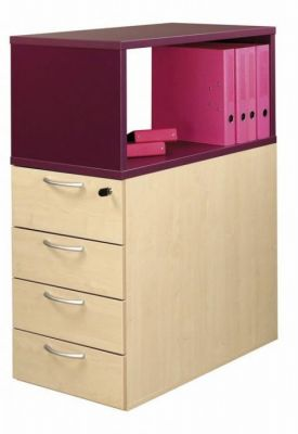 C01 Desk Height Pedestal Drawers And Top Box