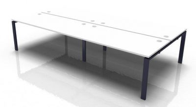 Saturn 4 Person Bench Desk White Top