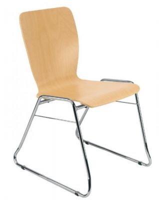 Wing Stackable Plywood Conference Chair
