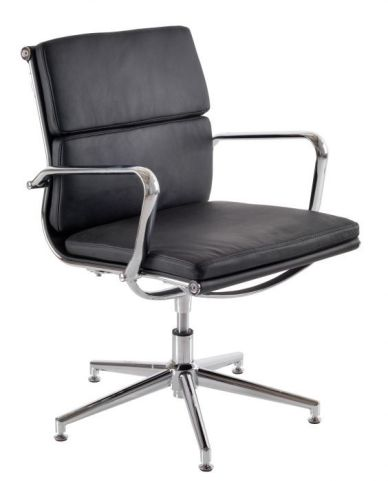 Eames Soft Pad Black Leather Conference Chair