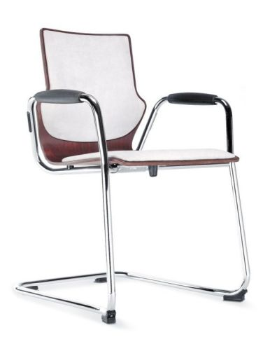 Converse Cantilever Armchair With Upholstered Seat And Back