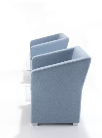 Jason Fabric Tub Chairs Side View