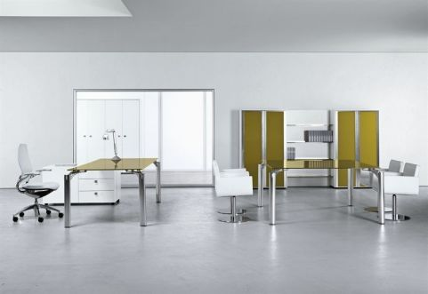 Must Executive Office Range Using The Striking Curry Glass Table Tops With White Backdrop