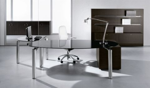 Executive Managers Office Created Using Must Black Glass Furniture Range