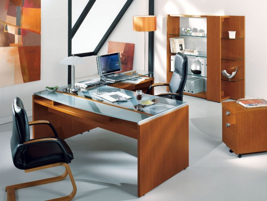 glass top office desk. Modern Washington Glass Top Office Desk With Lower Wooden Shelf And Return In A Contemporary R