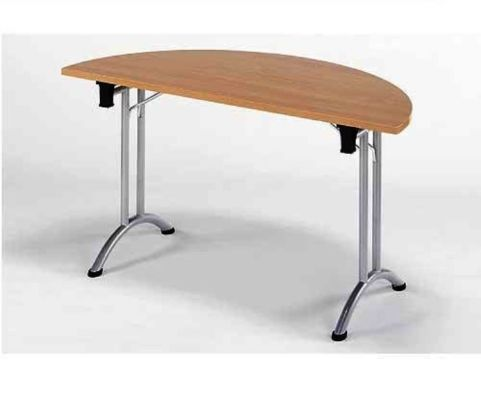 Union Half Moon Folding Meeting Room Table In Beech