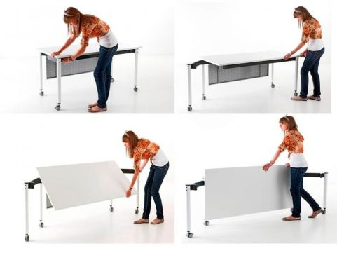 Flexible Kite 750 Folding Table With Tapered Legs - Construction Demonstration