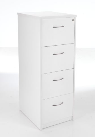 Flite White 4 Drawer Filing Cabinet