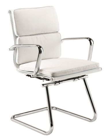 Eames White Leather Soft Pad Conference Chair