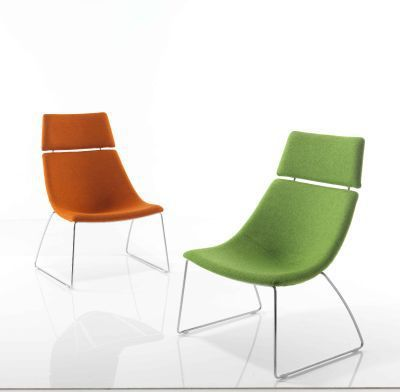 Curveo Designer Seating With Skid Frame