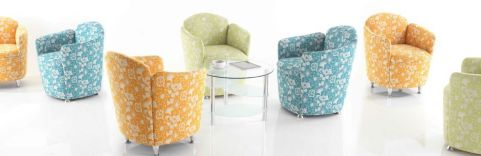Toto Tub Chairs Pattered Fabrics