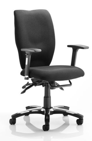 Ergo T Task Seating Black Fabric