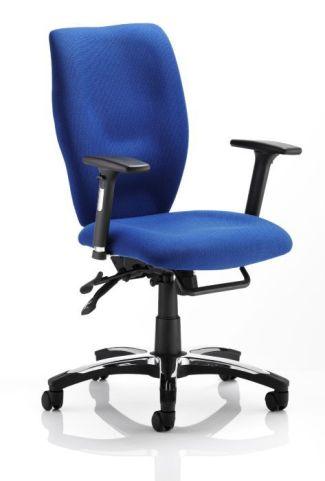 Ergo T Blue Fabric Task Seating