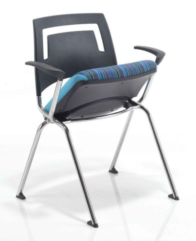 Flip Stack Conference Armchair With Flip Up Seat