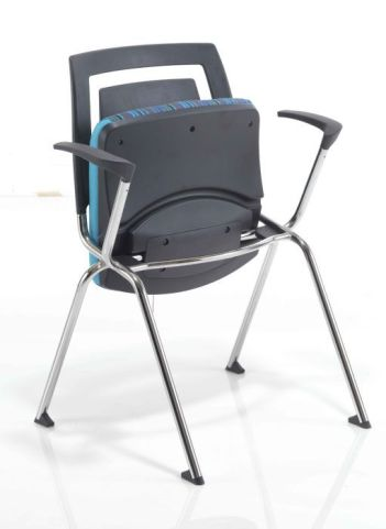 Flip Stack Conference Chair With Flip Up Seat