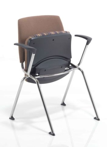 Flip Stack Fully Upholstered Armchair With Flip Up Seat
