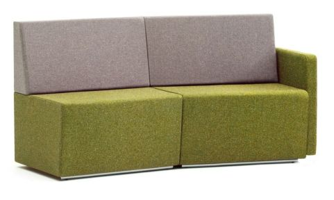 Totem Modular Concave Sofa With A Single Arm