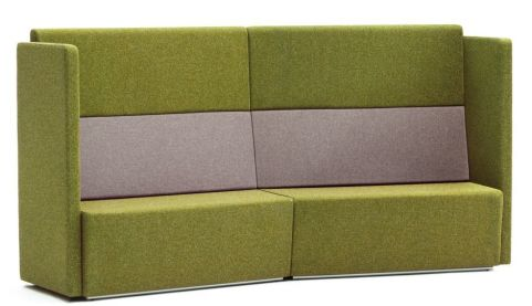 Totem Concave Four Seater Sofa With An Extra High Back And Arms